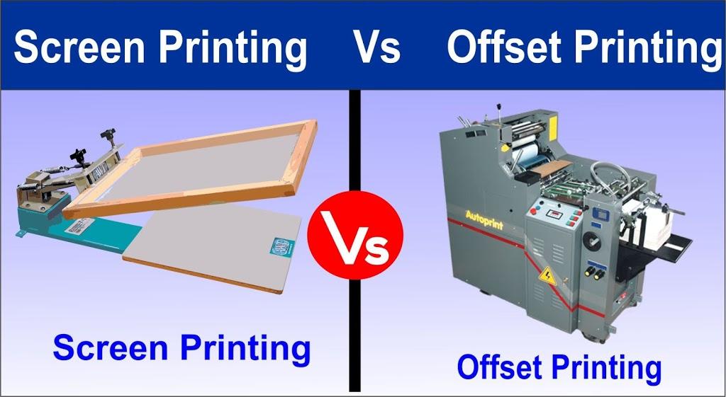 Screen Printing and offset printing (printing machine)